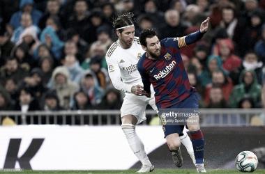 ¿NUEVOS COMPAÑEROS?. Ramos(izquierda) con Messi(derecha), podrían ser nuevos compañeros en el PSG. Foto: Getty images