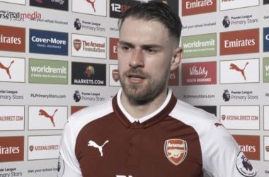 Ramsey atiende a los medios del club | Fotografía: Arsenal Player