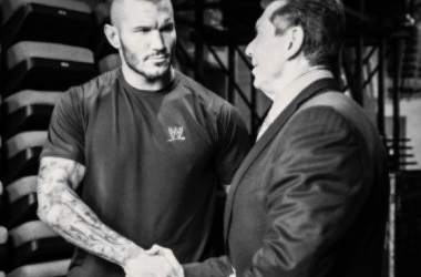 Mr McMahon is very impressed with Randy Orton (image: pinterest.com)