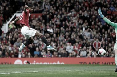 Rashford anotó el gol ante Liverpool. Foto: Premier League.