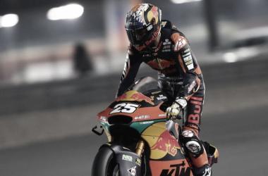 Raúl Fernández durante los entrenamientos libres / Fuente: Red Bull KTM Ajo