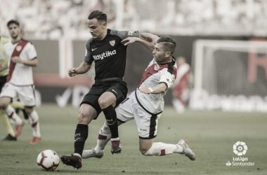 Roque Mesa en el Rayo Vallecano-Sevilla FC de la Jornada 1   Foto: La Liga Santander