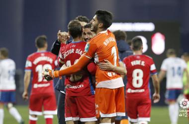Los jugadores del Granada CF celebran la victoria / FOTO: LaLiga