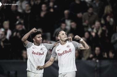 Adeyemi y Okafor, los goleadores del RB Salzburg / FOTO: @RedBullSalzburg