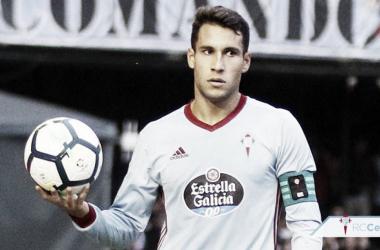 Hugo Mallo ha sido galardonado como el mejor jugador celeste del mes de marzo. Foto: RC Celta.