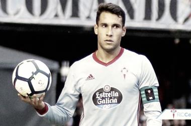 Hugo Mallo durante un partido esta temporada con el R.C. Celta de Vigo. | Foto: RC Celta
