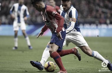 Un gol de penalti condena el buen juego del Espanyol en el Wanda Metropolitano