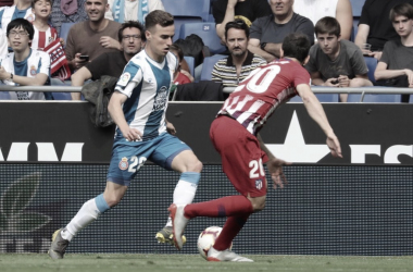 Darder y Juanfran en una jugada del encuentro. Foto: RCD Espanyol