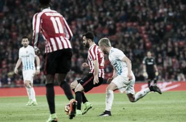 Balenziaga en el encuentro ante el Málaga. | Foto: Athletic.