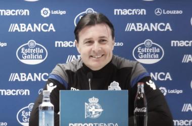 Cristóbal Parralo durante su comparecencia. / Imagen: RCDeportivo