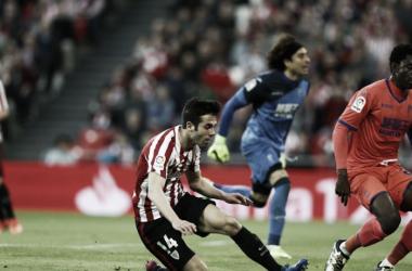 Markel Susaeta en el momento de su gol. | Foto: Athletic.