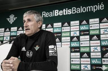 Quique Setién, en la rueda de prensa previa al choque | FOTO: Real Betis