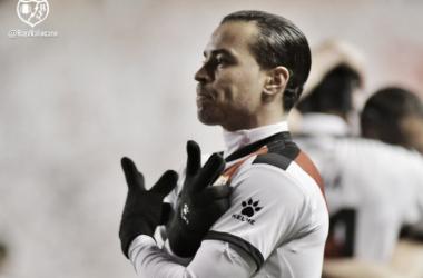 Raúl de Tomás al meter el tercer gol   Fotografía: Rayo Vallecano S.A.D.