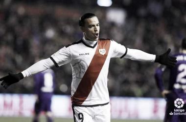 Raúl de Tomás celebrando un gol suyo ante el Celta. Fotografía: La Liga