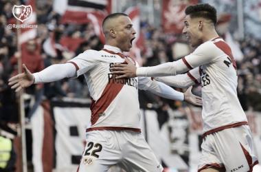 Celebración de un gol de Raúl de Tomás. Foto: Rayo Vallecano S.A.D.