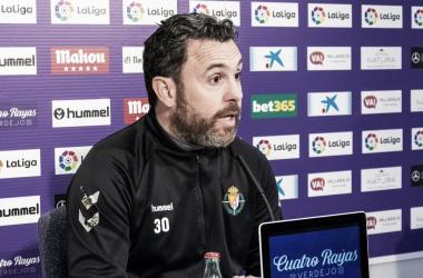 Sergio González en la sala de prensa | Real Valladolid