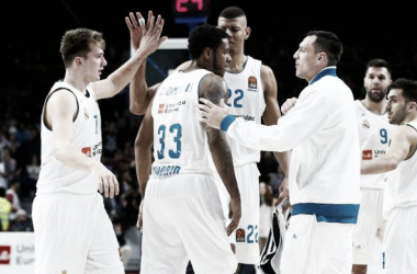 Distintos jugadores madridistas durante un partido   Foto: realmadrid.com