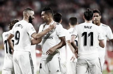 Los jugadores celebran un gol | Foto: La Liga