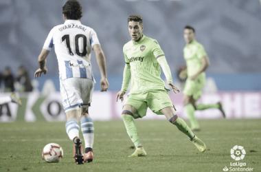 Oyarzabal, la gran estrella realista, durante un partido contra el Levante/ Foto: LaLiga