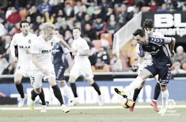 Imagen del partido entre el Valencia y Real Valladolid | LaLiga