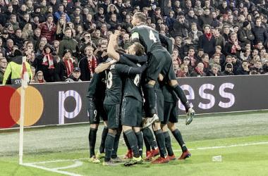 O Real Madridnão fez sua melhor partida, mas foi eficaz na Holanda (Foto: Real Madrid)