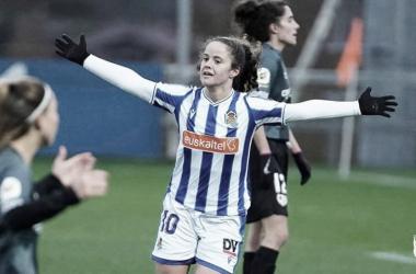 Nerea Eizaguirre celebrando un gol // Foto: Real Sociedad