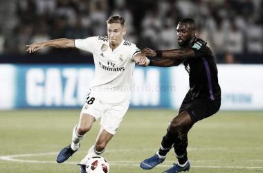 Marcos Llorente es el futbolista con mayor herencia de jugadores blancos I Foto: Real Madrid