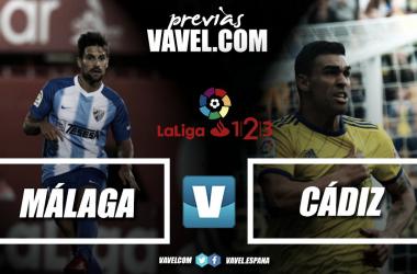 Previa Málaga CF - Cádiz CF | Fotomontaje: Vavel.com