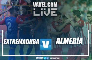 Extremadura UD - UD Almería en directo online en LaLiga 1 2 3 // Fotomontaje VAVEL