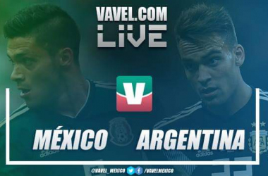 México vs Argentina EN VIVO online en Amistoso FIFA 2018 (0-0)
