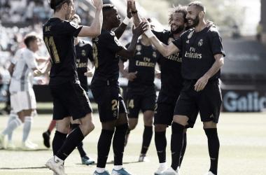 Los jugadores del Real Madrid celebrando un gol / Foto: realmadrid