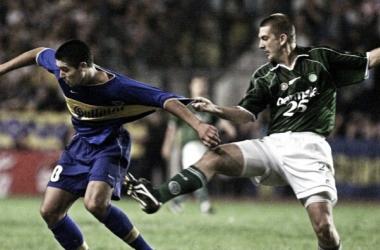 Riquelme en un juego ante Palmeiras. Foto: Web