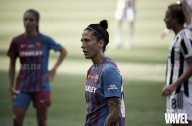Jennifer Hermoso, en un partido este año con el Barça.