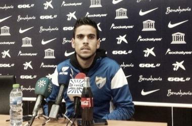 """Recio: """"Siempre voy a estar agradecido al Granada y su afición"""". Foto: Málaga CF"""