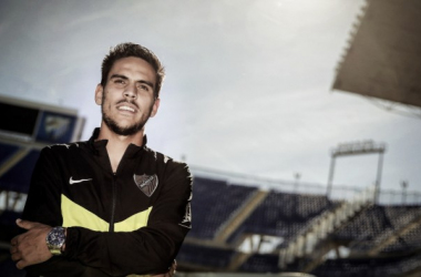 """Recio: """"Quedan nueve partidos y tenemos que quedar lo más arriba posible"""". Foto: Málaga CF"""