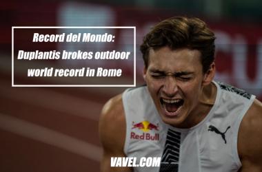 Record del Mondo: Duplantis breaks outdoor world record in Rome