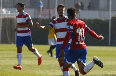 Antonio Marín y Caio celebran un gol | Foto: Antonio L. Juárez