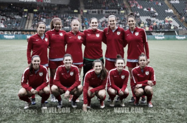 The Red Stars before a 2017 preseason game in Portland | Source: Jenny Chuang - Vavel USA