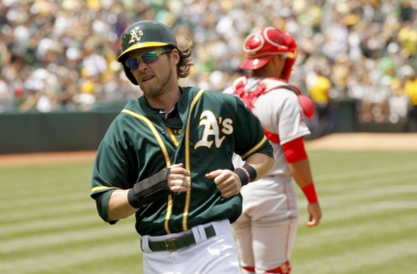 Josh Reddick will be doing his best to help the A's improve this season. (Photo credit: USA Today)