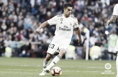 Sergio Reguilón el día que debutó con el Real Madrid I Foto: LaLiga