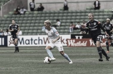 Jess Fishlock and Melbourne City FC didn't get the desired result in a 2-1 loss to Western Sydney (Source: Seattle Reign FC)