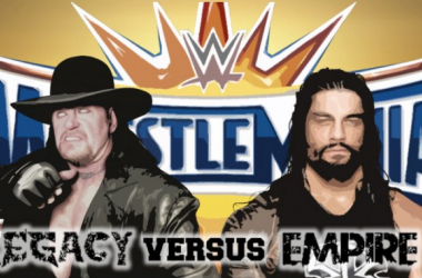 What will happen when the two 'Big Dogs' of WWE collide on the Grandest Stage of Them All? (image: joel lampkin)