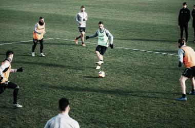 Javi Moyano volvió a los entrenamientos | Real Valladolid