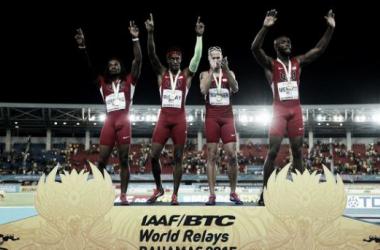 Le relais 4x400m Américain sur le podium mondial à Pékin [Reuters]
