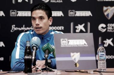 Renato Santos en rueda de prensa. | Foto: Málaga CF