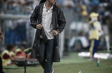 Renato Poratluppi na vitória contra o Internacional no último domingo (17). (Foto: Lucas Uebel/Grêmio)
