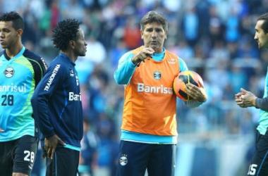 Partida contou com a estreia de Renato Gaúcho no comando técnico da equipe (Foto: Divulgação/ Lucas Uebel/ Grêmio)