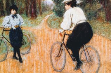 """Rencontré à bicyclettes"" (1918), de Federico Zandomeneghi (Wikipedia, DP)."