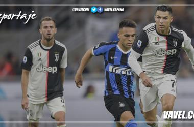 Ronaldo y Lautaro pugnan por el balón con Pjanic de testigo / Foto: Sitio oficial Juventus / Edición: VAVEL.com
