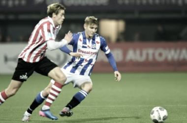 Martin Odeegard en su partido frente al Sparta Rotterdam | Foto: SC Heerenveen